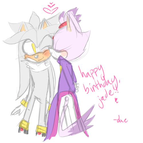 ghostshipping:  HAPPY BIRTHDAY JADE!!!! I REALLY HOPE I'M NOT LATE GOSH  DAEEEEEEEEEeeeeeeeeeeeeeeeeeeeeeeeeeeeeeeeeeeeeeee ;O;;;;;;;;;;;;;; OK SO I DUNNO IF YOU SAW MY OTHER MESSAGES but basically my net has been broken SO I'M SORRY THIS IS SUCH A LATE RESPONSE OMG crey but OH MY GOOOOOOOOOOOooooooooooooooOOOOOOOOOOOOOooooooooooooooDDDDDDDdddddddddddddddd!!!!!!!!! THIS IS SO CUTE my heart is so doki doki for this!!!!! SILVAZE CUTENESS WAH OH MY GOSH OHHHHHHhhhh my gosh this is such a perfect birthday present aaaaa THEY ARE SO CUTE you draw them so fluffy and adorable fdbhhsdjdjkdfjkn!!!!!! I especially love the way Blaze looks SHE LOOKS SO MOE aAAAAAaaaaaaaaaaaaaThis was such a lovely surprise!!! ;;;______;;;;; I can't stop staring at it XD hbfdjdjds thanks so much Daeeee this made me really happy to see, thanks for taking the time to make something, I really appreciate it!!!! I love this so much, sorry again for the late response!!! ;;__________;;;; <333333333333333333333333