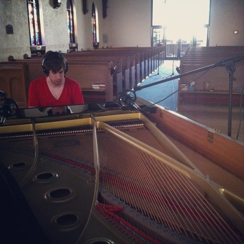 Piano tracking in a church day 1! (Taken with instagram)
