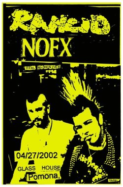 April 27, 2002 flyer w/ NOFX & The Real McKenzies