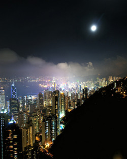 sightsounds:  hong kong full moon (by mariusz621)
