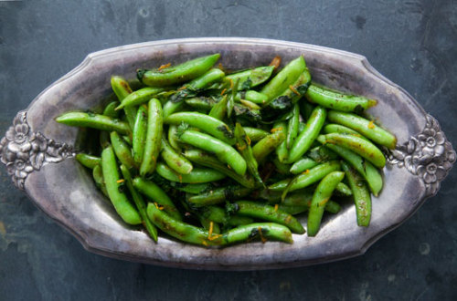 Seared Sugar Snap Peas … mmMMMmmm tastes like Spring! Make!!