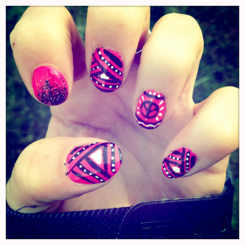Neon pink mix! Loving it!