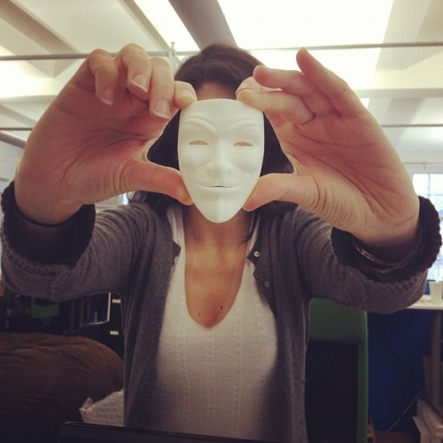Carine gets anonymous  (Taken with Instagram at Shapeways HQ)