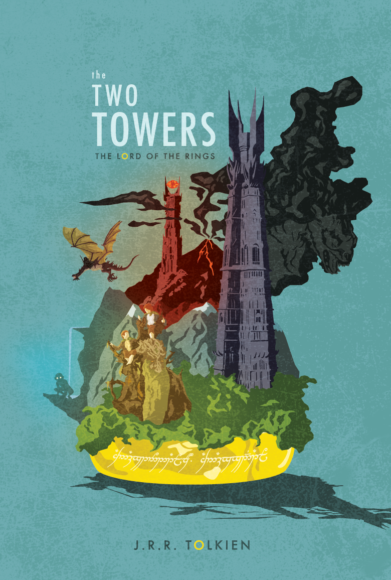 lazerscythe:  The Two Towers    Why have I neeeever seen this poster!