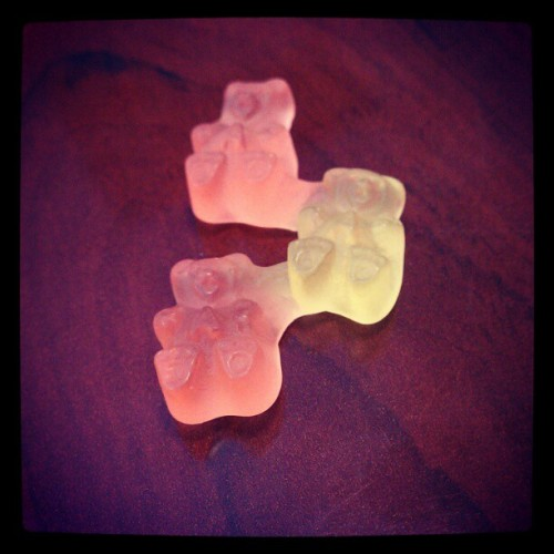 Centipede gummy bears. (Taken with instagram)