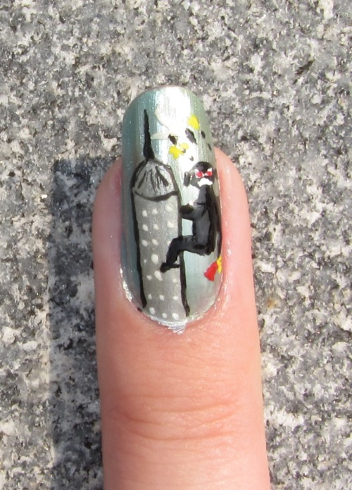 9/3/11 - Giant movie monster nails for the first week of college: King Kong with tiny airplane and damsel in distress