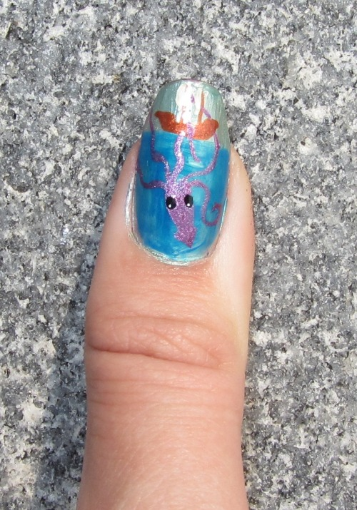 9/3/11 - Giant movie monster nails for the first week of college: the Kracken! (Mostly inspired by Pirates of the Carribean).