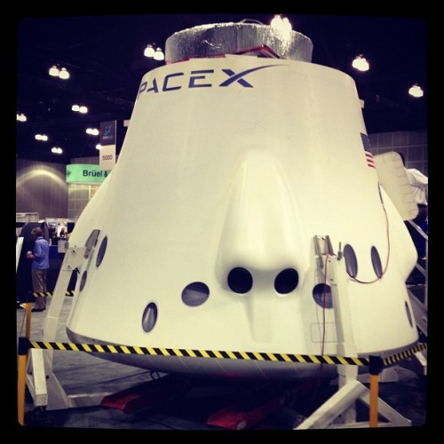 www.space.com/15557-spacex-capsule- … 4 days ago – SpaceX's private Dragon w/ @tarynoneill don't be jealous @georgeruiz  (Taken with Instagram at Spacecraft Technology Expo & Conference)
