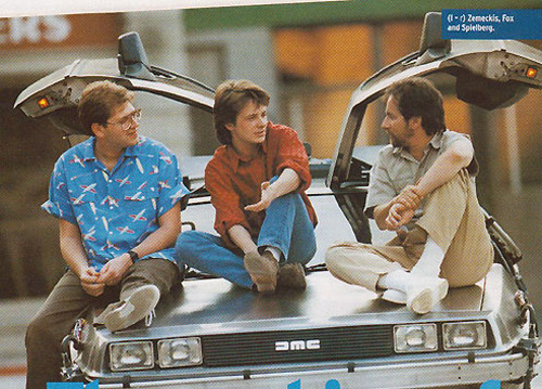 Robert Zemekis, Michael J. Fox and Steven Spielberg