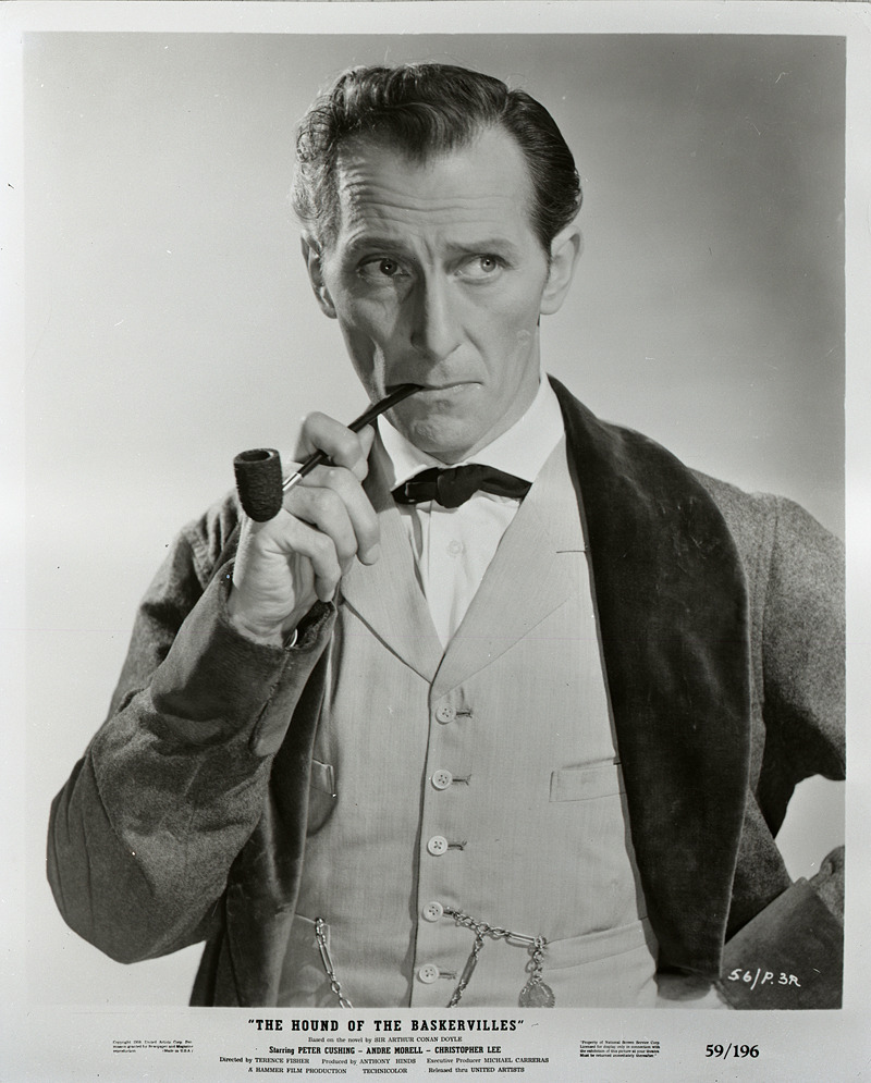 famouspeoplesmoking:  Peter Cushing