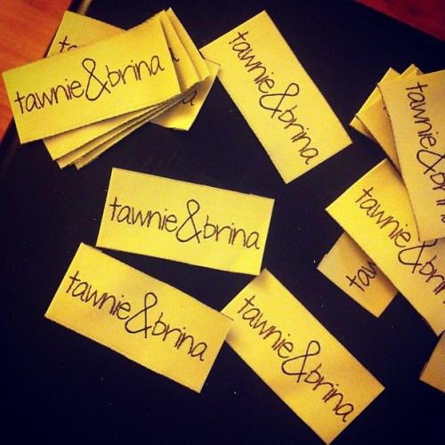 #tawnieandbrina garment tags are finally here!!!!  (Taken with instagram)