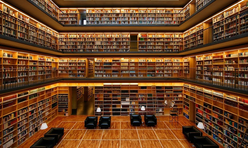 "What to read ~ ""The Cube"" Study Centre of the Anna-Amalia Library in Weimar, Germany."