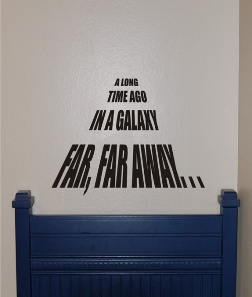 Star Wars—A Long Time Ago vinyl Wall Decal     Listing (x) Seller (homesweetwalls)