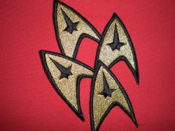 Custom Made Patches for Star Trek Costumes - Metalic Gold Thread    Listing (x) Seller (StitchesAplenty)