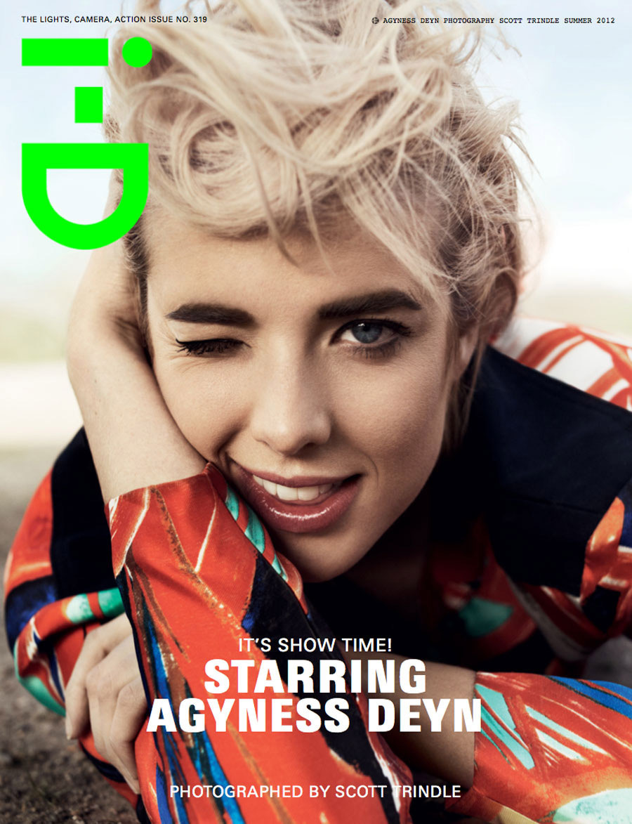 thebeautymodel:  Agyness Deyn by Scott Trindle for i-D Summer 2012.