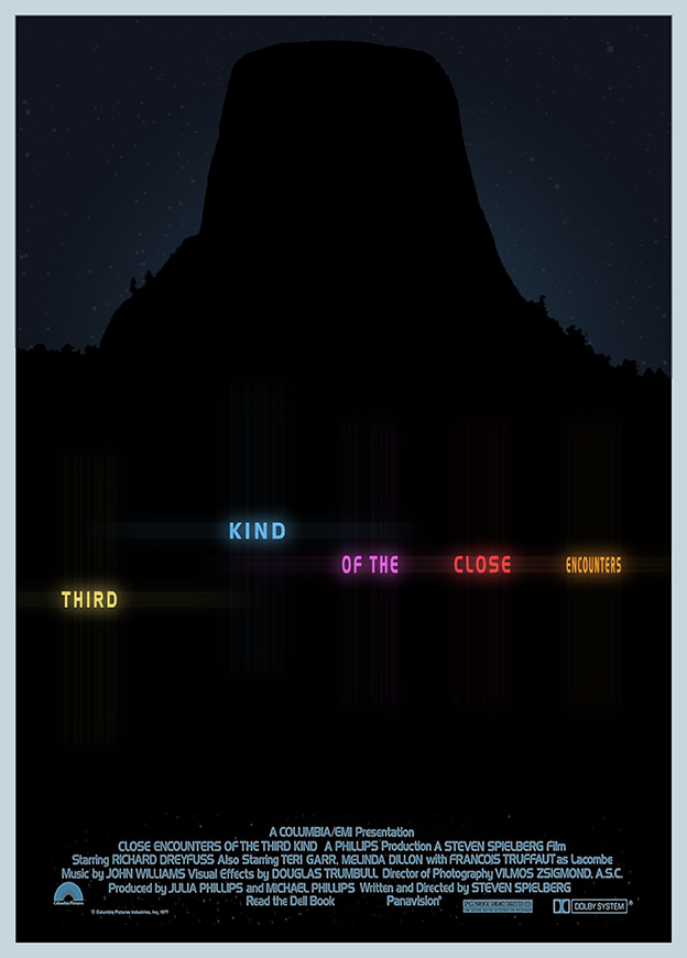 minimalmovieposters:  Close Encounters of the Third Kind by 3ftdeep