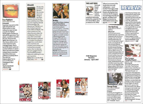 FHM Album, DVD and cinema reviews from various issues of FHM.