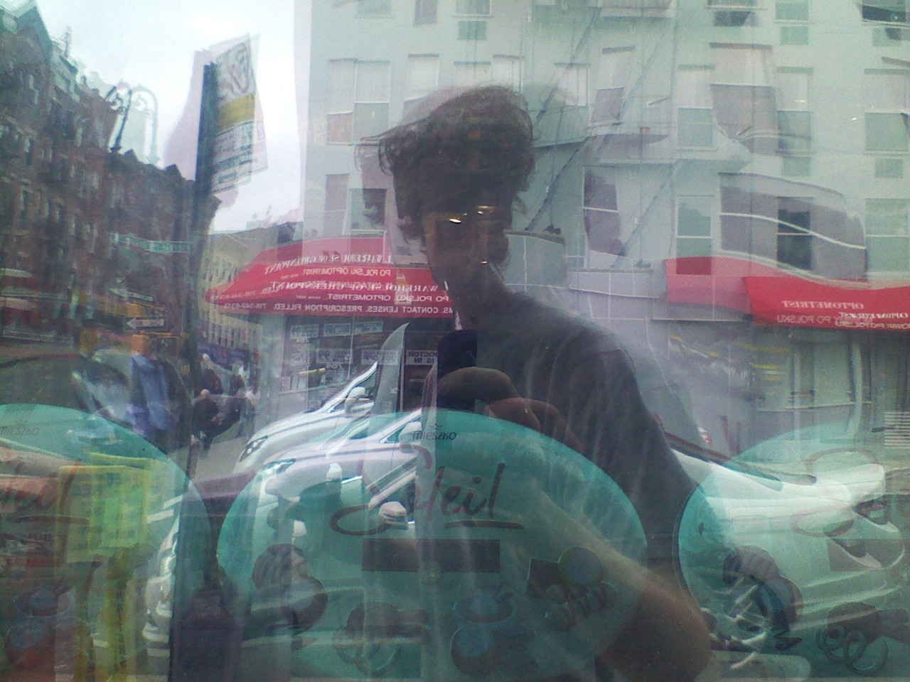 pic self-portraiture outside greenpoint chocolate store