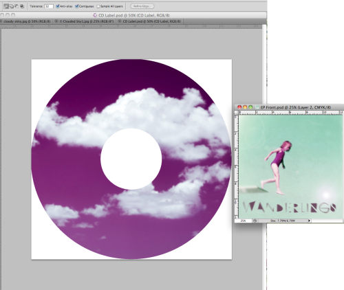 I'm now making the disk cover to make sure I haven't left out any detail. I decided to use the pinky/purpley colour from the girl's swimming costume as my inspiration as I thought there was quite a lot of pale green in the designs and hardly any other colour. It will make a lovely contrast to the EP case.