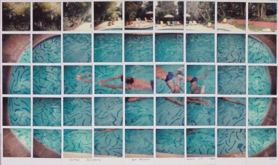anewkindofcamera:  polaroid sx70 Nathan Swimming Los Angeles March 11th 1982, by David Hockney © David Hockney Found: sayforward.com, Accessed May 9, 2012