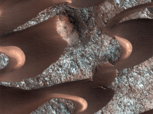 Bouncing Sands of Mars Blow in the Wind Because Mars has an atmosphere 100 times less dense than Earth's, scientists figured hurricane-force winds are needed to move sand around in the thin Martian air, and winds that high are rare.But this turns out to be only half the story. keep reading