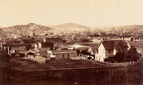 Carlton E. Watkins, City Front from Rincon Hill, San Francisco, California, 1860-1862. Source: Getty Museum