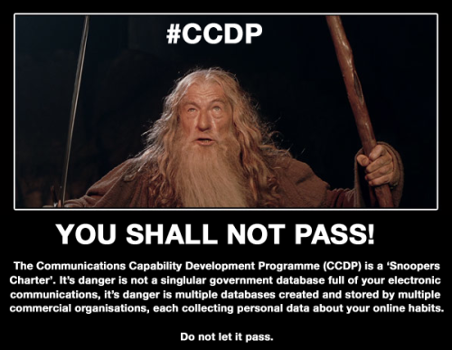 Communications Capability Development Programme (CCDP). You. Shall. Not. Pass.