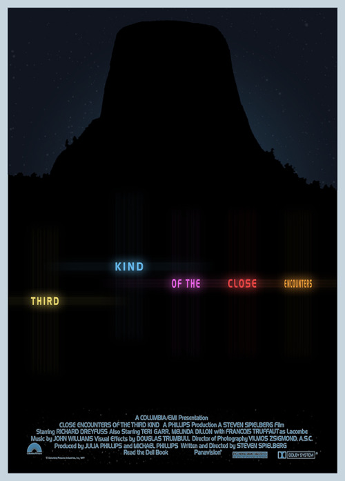 fuckyeahmovieposters:  Close Encounters of the Third Kind by 3ftDeep