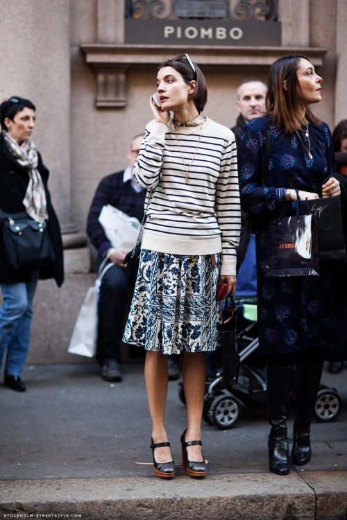 theclotheshorse:  street fashion photographed by stockholm street style