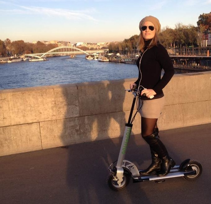 """The Myway Compact – the smallest fold-up electric scooter yet"" Our recent rundown of the coming ""Transportation Appliance"" marketplace has unearthed yet another another compact fold-up electric vehicle that appears set to become the smallest of the last-mile transport options. Well-known Israeli Industrial Designer Nimrod Sapir has devoted much of his life to figuring out better ways of ""getting there."" Nimrod designed the ingenious Tagabike we featured four years ago, but his Myway Compact EV is more compact than anything we've seen and might play a major role in transportation in the future."