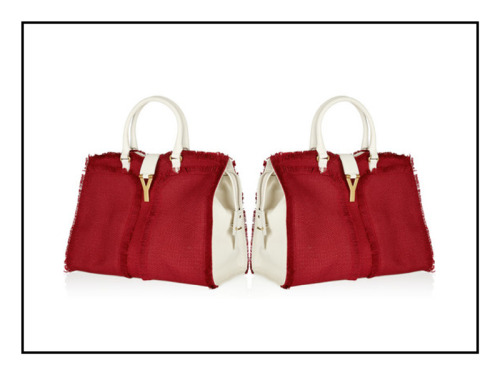YSL | Tote Bag We simple love this red, white woven linnen and leather bag from YSL. It's the perfect size for a busy summer in the city. Chic enough to take to the office and casual enough to pack a bottle of wine for a warm evening in the park. Love!