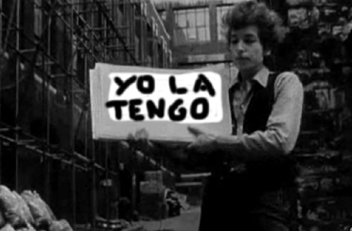 "Yo La Tengo Does Dylan (Sunsquashed Archives) Every year during Yo La Tengo's Hanukkah shows at Maxwell's, the band pays tribute to some Great Jewish Songwriters — and inevitably, a certain Robert Zimmerman's tunes show up from time to time. YLT has long had an affinity for Dylan, stretching at least back to the version of ""I Threw It All Away"" which capped off President Yo La Tengo back in the 80s. Bob and Ira Kaplan are also linked by their Gerdes Folk City connections — Dylan played some of his earliest shows at the positively-4th-Street club and Ira booked the infamous ""Music For Dozens"" shows there in the early 80s. Ira, Georgia and James are generally far from reverent when taking on these hallowed tunes — and that's what I like the most about this compilation (the second volume of our trawl through the fan-curated Sunsquashed Archives). I get the feeling YLT thinks of Dylan less as a mythic, generation defining icon, and more of a great pop songwriter. Highlights include the droning, dreamy ""It Takes A Lot To Laugh,"" the garage-tastic ""Rolling Stone"" jam (nicked from the Soup Greens) and the lovely country waltz of ""Wallflower."" Zimmy himself doesn't show up, but Yo La Tengo get a helping hand from his old Budokan buddy David Mansfield on an utterly gorgeous ""I'll Keep It With Mine."" How does it feel!?  1. It Takes A Lot To Laugh It Takes A Train To Cry, 8/31/99, BBC Radio 12. Like A Rolling Stone, 10/13/89, Maxwell's (Robert Vickers on bass)3. I Threw It All Away, 2/17/11, Triple Door, Seattle, WA4. One More Night, 12/6/02, Maxwell's5. I Wanna Be Your Lover, 12/6/07, Maxwell's (with various dB's)6. Sooner or Later (One Of Us Must Know), 12/3/10 Maxwell's (with Jeff Tweedy)7. Wanted Man, 3/8/97, WFMU 8. Wallflower, 9/15/98, Maxwell's (with Dave Schramm)9. Absolutely Sweet Marie, 12/26/08, Maxwell's (with Cyril Jordan)10. 4th Time Around, 11/7/07, Beacon Theatre, NYC (with Terry Adams and Buckwheat Zydeco) 11. I'll Keep It With Mine, 12/30/05, Maxwell's (with David Mansfield)***Bonus***12. You're A Big Girl Now, 12/26/08, Maxwell's (Lambchop, with James McNew on bass) Download Thanks to all the tapers! In case you missed it, we're posting these rare Yo La Tengo recordings in the lead-up to Jesse Jarnow's Big Day Coming: Yo La Tengo and the Rise of Indie Rock, published next month by Gotham Books. Jesse is on Twitter and Facebook, offering many more YLT treats. And of course, the band itself is at www.yolatengo.com."