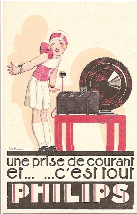 An outlet.. And that's it ! Old French Ad.