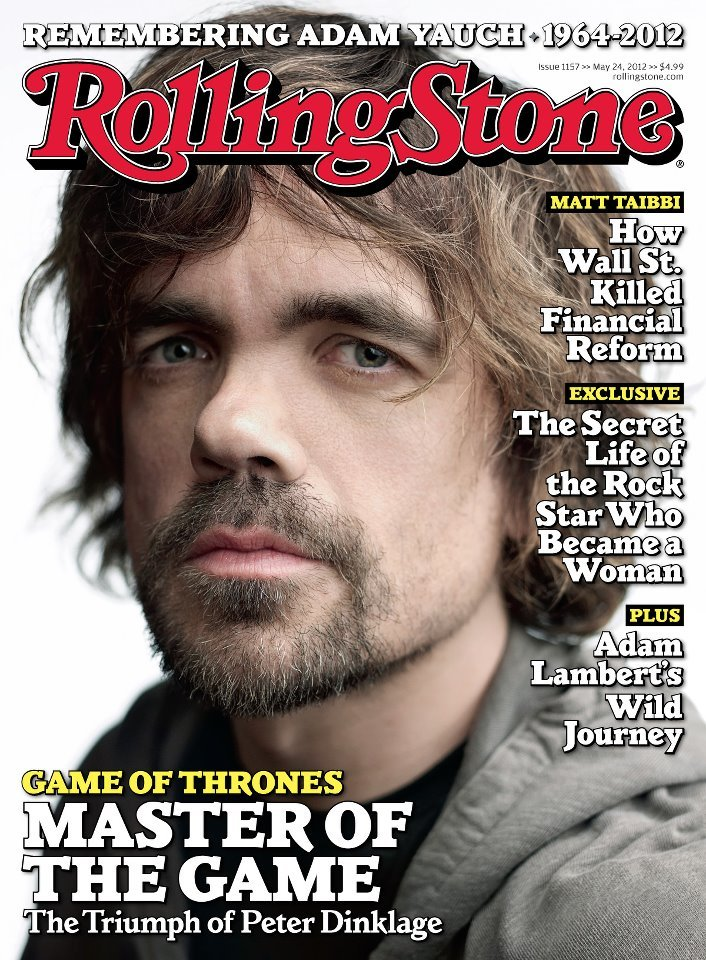 bohemea:  Peter Dinklage - Rolling Stone, May 24th 2012 Master of the game!