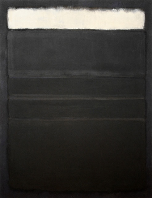 paintmeblack:  Untitled (1963) by Mark Rothko