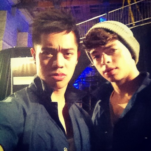 "bestofianeastwood:  ""PusWood game faces for tonight. #abdc #mdubgang""  <3"