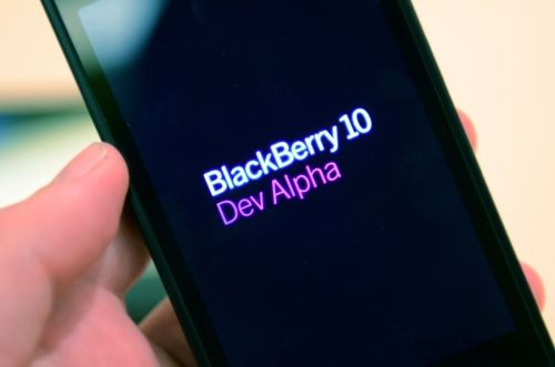 BlackBerry 10 prototype: When I started my new job, I was told there was no budget for me to have a BlackBerry. I was THRILLED. This thing changes nothing. (image from The Verge)