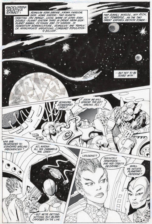 This blog's editor recently purchased a page of original art DC's Star Trek (V1) #36. You can view it in more detail here and even download a .tiff if you want.