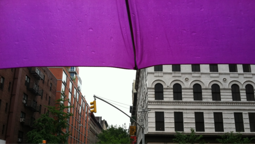 Rainy morning in Chelsea West 17th street and 7th ave
