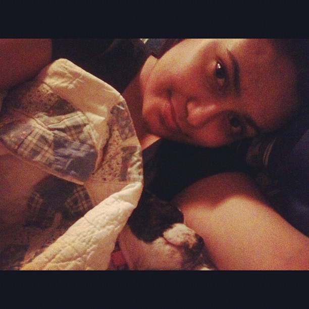 Cuz my baby likes to sleep with me :) (Taken with instagram)