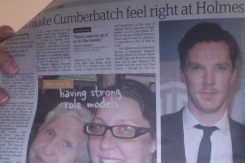 OMG I just had a heart attack because I just found benedict cumber batch in my newspaper!!!!!!