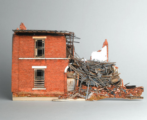 lylaandblu:  Broken Houses by Ofra Lapidvia   Super cool, yet tragic in a way.