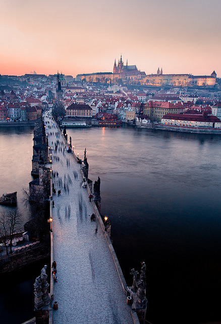 Charles Bridge, Prague, Czech Republic photo via lilly