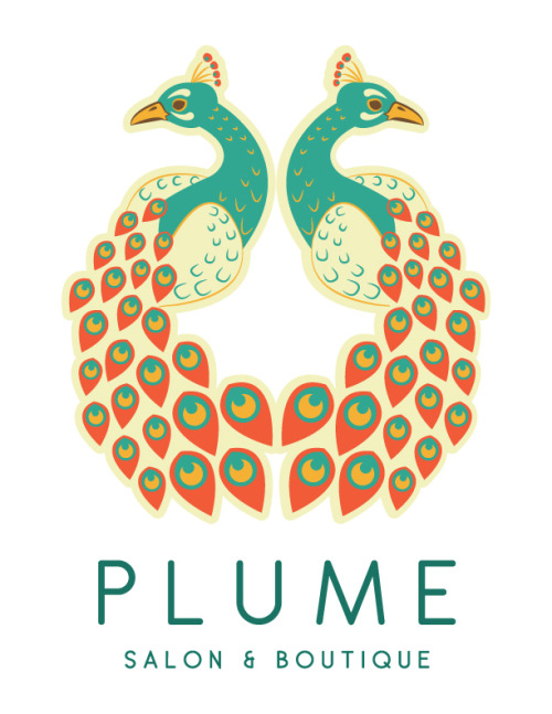 NBD. Just have my PLUME logo design on Designersof on Tumblr :) I just really like the fact that people get to see my work, and I LOVE seeing people sharing. Just don't steal please….haha THANK YOU DESIGNERSOF! designersof:  PLUME by Stephanie Zombek