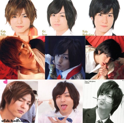 YabuNooJima - Duet 2012.06  They looks cute and handsome, ne?! the 3rd pictures are best ;) Btw, Inoo with that kimono reminds me of Sohma Akito from one of my fav anime/manga, Fruits Basket :)