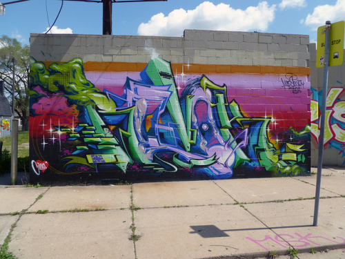 REVOK. Detroit 2012 on Flickr.Revok. #Detroit #Graffiti
