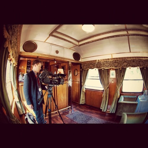 MDC 2012 Day 4 - Filming in the Salon of the Majestic Train on the way to Salzburg. © flip-art.tumblr.com #mdc #train #salon #majestic #imperator #nikon #d80 #fisheye #dx #dslr #photography #austria  (Taken with Instagram at Majestic Train to Salzburg)