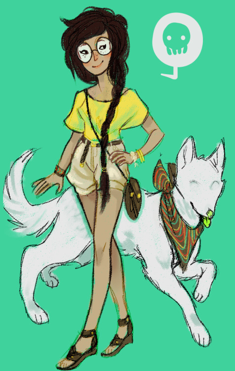 sleepy0wl:  hhhhh im so excited for summer  i borrowed jade to dress up oop