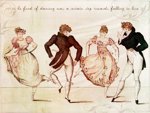 """To be fond of dancing was a certain step towards falling in love.."" —Jane Austen. Pride and Prejudice.  ""We can dance if we want to We can leave your friends behind Cause your friends don't dance And if they don't dance Well they're no friends of mine"" —Men without Hats. Safety Dance."
