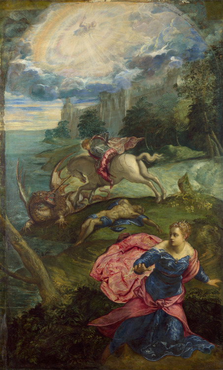 Jacopo Robusti, detto il Tintoretto, San Giorgio uccide il drago, 1553-1555: Londra, The National Gallery. © National Gallery Picture Library